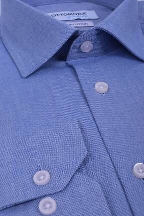 Ottomoda Erkek Oxford Cepli Klasik Uzun Kollu Gömlek