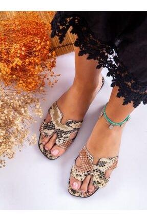 ayakkabıhavuzu Terlik - Kahverengi Yılan - Ayakkabı Havuzu