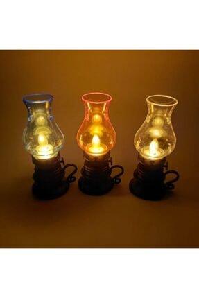 HİMARRY 1 Adet Nostaljik Plastik Pilli Gaz Lambası