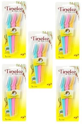 TİNEKE 3'lü Kaş Usturası 5 Paket 5 Li Paket