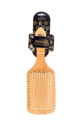 Nano Absolute Bambu Saç Açma Fırçası G-014 Ahşap Topuzsuz Tarak