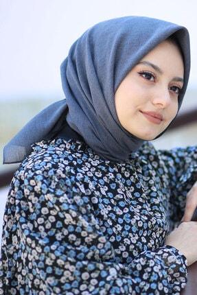 AFVENTE Kadın Kot Mavi Cotton Pamuk Eşarp Ck02