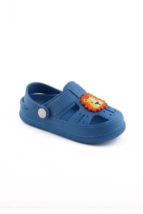 WOVS Günlük Ortopedik Kaydırmaz Tabanlı Hayvan Figürlü Sandalet Terlik - Mavi