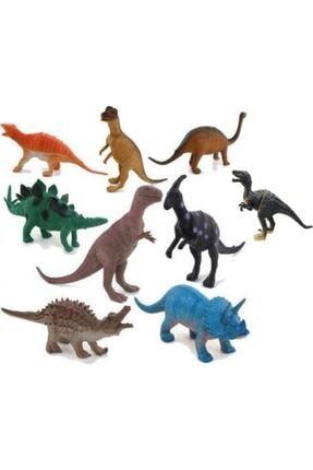 Yeşil Dinozor Oyuncak Hayvanlar 8 Parça Dinozor Seti Büyük Boy Dinazorlar