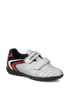 Kinetix BUMERA TURF Gümüş Siyah Kırmızı Erkek Çocuk Halı Saha Ayakkabısı 100246256