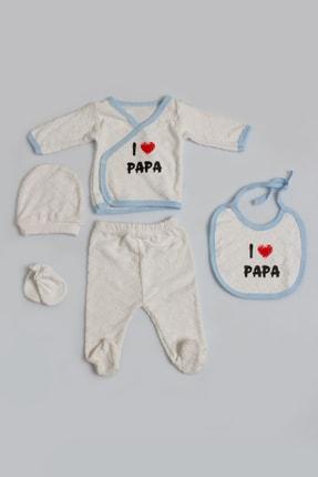 Pattaya Kids Bebek I Love Baskılı 5li Zıbın Seti Yeni Doğan Pb21s505-1107