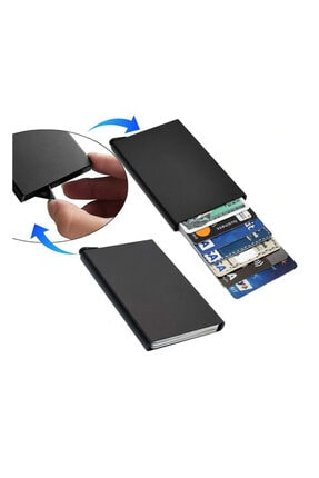 Emek Minimalist Secrid Otomatik Mekanizmalı Metal Kredi Kartlık Rfıd Korumalı