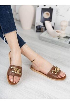 ayakkabıhavuzu Kadın Taba Suni Deri Terlik