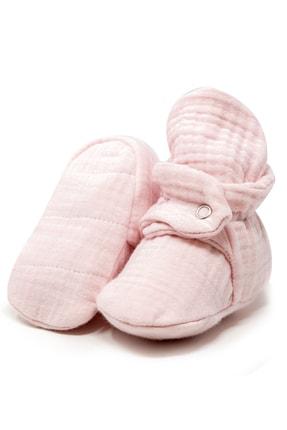 Ella Bonna Unisex Bebek Pembe Organik Pamuk Müslin Bebek Patiği