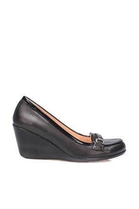 İnci Hakiki Deri Siyah Kadın Klasik Ayakkabı 120130009805