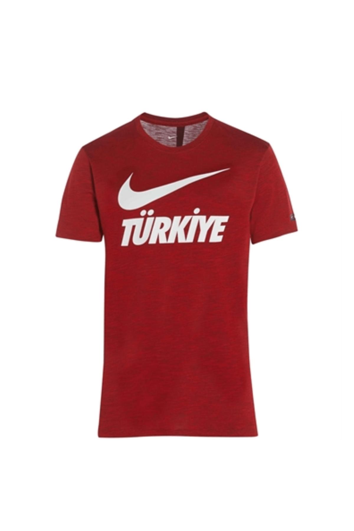 Nike Türkiye Nike Günlük Giyim Türkiye Yazılı T-Shirt Kırmızı Euro 2020 - Euro2020