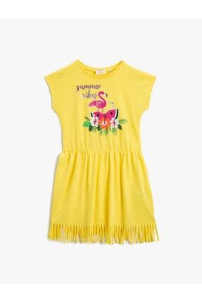 Koton Kız Çocuk Sarı Baskılı Elbise 1YKG87447AK