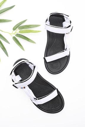 Marjin Kadın Beyaz Trekking Sandalet