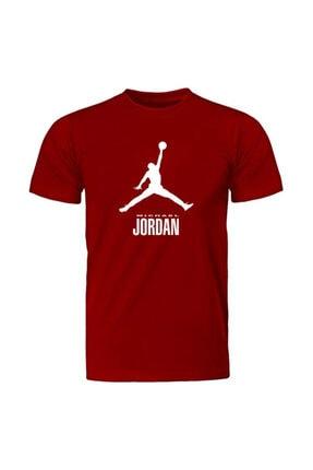 Fandomya Basketbol Yarım Kollu Kırmızı T-shirt