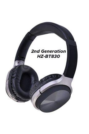 Pell Hz830 Bt Süper Kalite Kablosuz Bluetooth Kulaklık 5.0 Gürültü Azaltıcı Kulak Üstü Kulaklık - Siyah