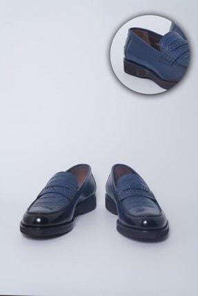Buffalo Milano El Yapımı Lacivert Loafer Ayakkabı