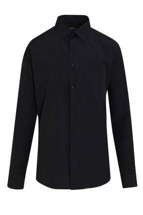 Hatemoğlu Erkek Siyah Basic Klasik Gömlek