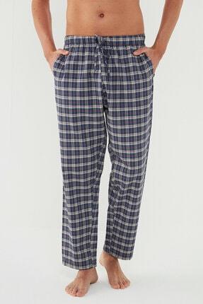 Penti Erkek Lacivert Renkli Gift Dark Checked Pijama Altı