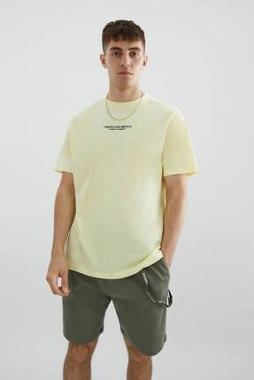 Pull & Bear Beach Sloganlı T-shirt