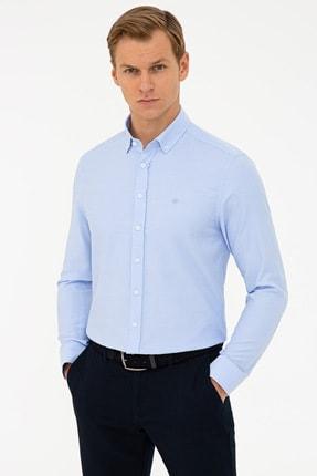 Pierre Cardin Koyu Mavi Slim Fit Oxford Gömlek