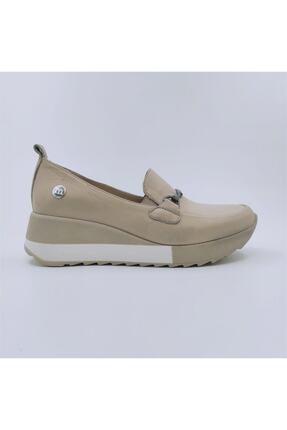 Mammamia Kadın Bej Hakiki Deri Dolgu Topuklu Ayakkabı D21ya-3215-b