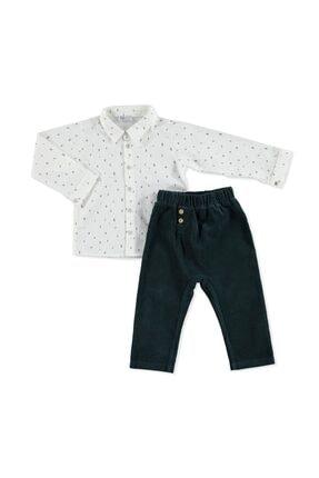 HelloBaby Sevimli Ayı Tema Gömlek Pantolon