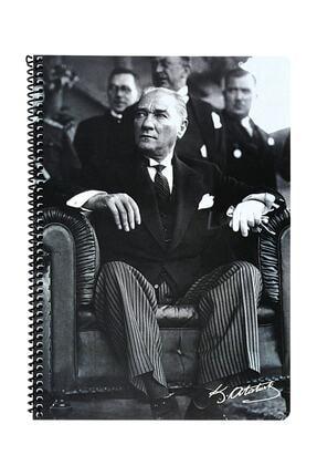 KESKİN COLOR Atatürk A4 80 Yaprak Kareli Pp Kapak Spiralli Defter (327922)