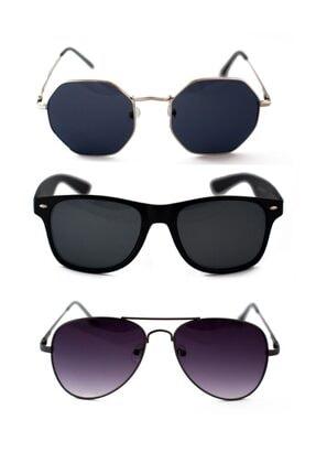 ModaLucci Unisex 3lü Fırsat Güneş Gözlüğü