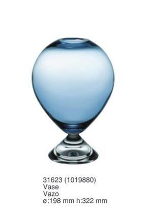 Paşabahçe Mavi Cam Vazo