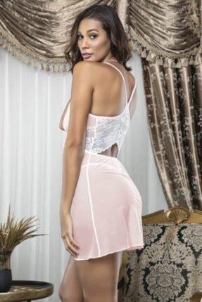Tutku Lily Bianca Kadın Pembe Tül Fantezi Gecelik