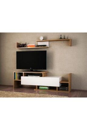 Dekorister Dream Tv Ünitesi Beyaz Ceviz