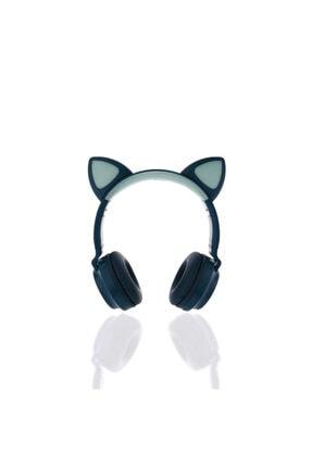 Sunix Blt19 Kedi Kulaklı Işıklı Kafa Üstü Bluetooth Kulaklık Yeşil
