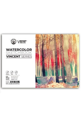 Vincent Vıncent Watercolor Sketchbook 300gr 12,5x18 10 Sayfa Suluboya Defteri