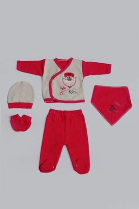Pattaya Kids Bebek Hello Baby Nakışlı 5li Zıbın Seti 0-3 Ay Pb21s505-1166