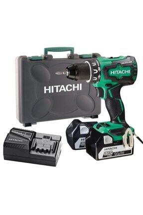 HITACHI Hitachi Ds14Dbsl 14.4Volt/5.0Ah Li-Ion Çift Akülü Kömürsüz Profesyonel Vidalama