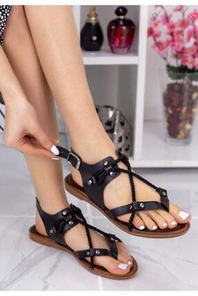 ESPARDİLE Cass Siyah Halatlı Sandalet