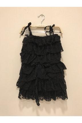 Pitti Kız Çocuk Dantelli Kat Kat Askılı Elbise