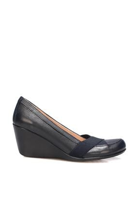 İnci Hakiki Deri Lacivert Kadın Klasik Ayakkabı 120130009804