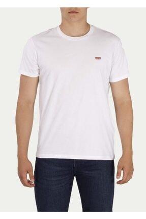 Levi's Erkek Beyaz Bisiklet Yaka T Shirt 56605-0075-76-77