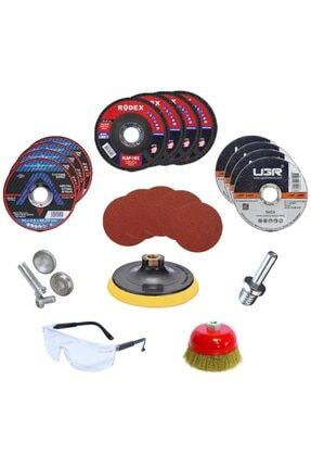 Badem10 Spiral Avuç Içi Taşlama Cırt Zımpara Flap Metal Kesici Diski Matkap Makinesi Seti (45 Parça)
