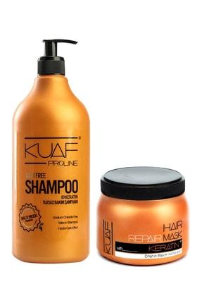 Kuaf Tuzsuz Şampuan 1lt Keratin Saç Maskesi 500 ml