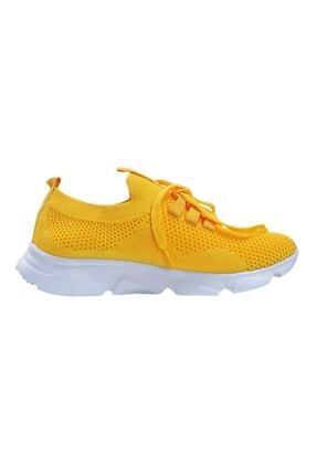 Oblavion Kadın  Sarı Günlük Triko Spor Ayakkabı