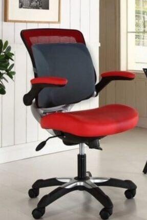 Auracar Lüx Ortopedik Sırt Minderi Araç Koltuk Sandalye Bel Yastığı Bel Desteği Bel Minderi