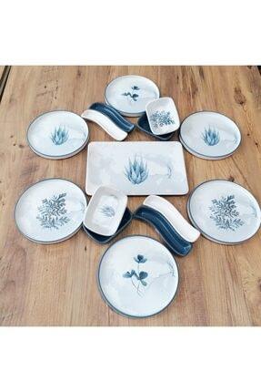 Keramika Takım Kahvaltı 15 Parça 6 Kişilik Blue Magic Stackable