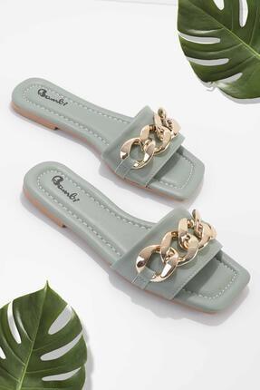 Bambi Su Yeşili Kadın Terlik K04954002309