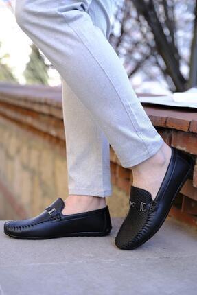 Oksit Hty Kanca Tokalı Baskı Detaylı Erkek Loafer