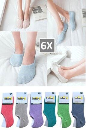 TreBears Kadın Babet Çorap  6 Lı Set 6 Renk