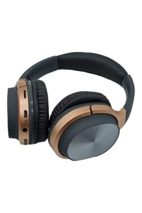 Pell Hz830 Bt Süper Kalite Kablosuz Bluetooth Kulaklık 5.0 Gürültü Azaltıcı Kulaküstü Kulaklık Gri-gold