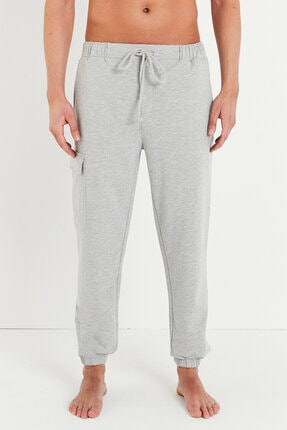 Penti Erkek Grey Pocket Cuff Pijama Altı