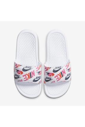 Nike Kadın Terlik Benassi Just Do It Floral Print Beyaz
